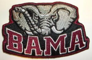 Alabama Crimson Tide Embroidered PATCH 3 1 8quot; x 2quot; Iron Sew On FREE Shipping