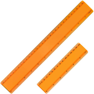 Plastic Ruler Straight Ruler Plastic Measuring Tool 12 Inches and 6 Inches 2 Pi $7.88
