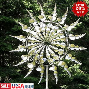 Unique amp; Magical Metal Windmill Sculptures Move with The Wind Lawn Wind Spi US