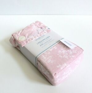 Simply Shabby Chic 2 Piece Pink Rose Slipper Floral Standard Pillowcases