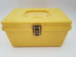 Vintage Wilson Wil hold Yellow Plastic Sewing Box No Tray $9.99