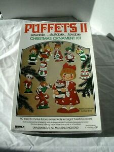 Puffets II Fabric Christmas Ornaments Sewing Kit Vintage #781 New Sealed $27.99