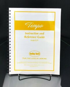 Baby Lock Tempo BLTP Sewing Machine Instructions Manual COLOR COPY $18.95