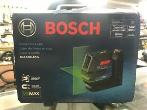Bosch Cross Line 100 ft Laser Level Self GLL100 40G and Hard Carrying Case NEW $129.99