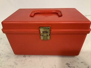 Vintage Wilson Wil Hold Plastic Sewing Box With Removable Tray Red $18.88