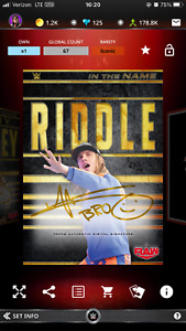 2021 WWE Topps Slam Digital In The Name Matt Riddle Gold Signature Iconic $6.00