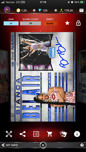 2021 WWE Topps Slam Digital In The Name Bianca Belair Sig Relic Iconic $6.00