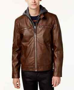GUESS Faux Leather Motorcycle Jacket MSRP $225 Size SML # 5D 1767 Blm $42.99