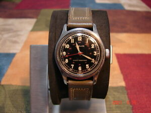 Vintage Military Type Avalon Swiss Men#x27;s Watch 24 Hour Dial Clean Runs Great $149.99