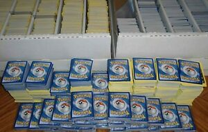 1000 bulk lot pokemon cards commons and uncommons NO ENERGIES $53.00