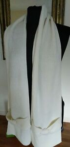 MSRP $78 KATE SPADE NEW YORK SOLID BOW MUFFLER CREAM SCARF ONE SIZE $21.99