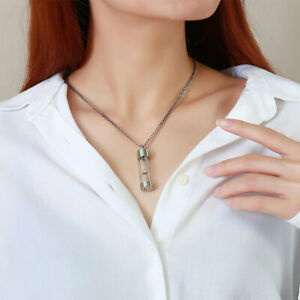 Ashes Pendant Teardrop Cremation Jewelry Stainless Steel Hourglass Necklace $9.12
