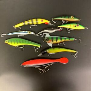 Lot of 9 Musky Lures Sea Cow Shimano 2 am 2
