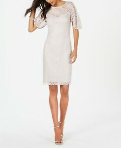 Adrianna Papell Lace Sheath Dress MSRP $199 Size 8 # 9NA 507 Blm $20.34