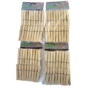 Wood Clothespins Wooden Laundry Clothes Pins Large Springs Regular 144 Pieces $24.91