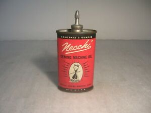Vintage Necchi 3 Oz. Sewing Machine Oil Can with Lead Top $31.99