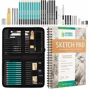 Full scale professional extra large paintings sketches set charcoal pencil 100 $78.27