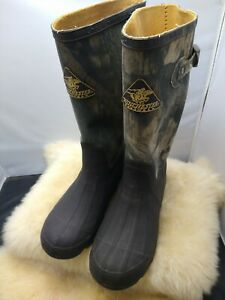 Winchester RUBBER HUNTING BOOTS Camo Boots RUBBER BOOTS Mens 6 GREAT CONDITION