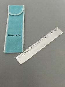"""Tiffany amp; Co. Sterling Silver Ruler 6"""" With Pouch $449.99"""