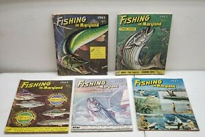 Fishing in Maryland 1960#x27;s Magazines Lot of 5