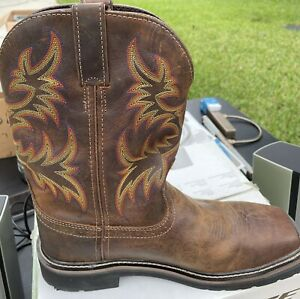 justin work boots 9.5