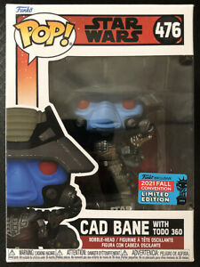 IN HAND FUNKO POP CAD BANE WITH TODO 360 STAR WARS NYCC 2021 READY TO SHIP $48.99