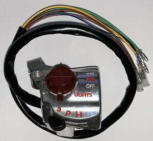 CT110 ALL YEARS SILVER RIGHT SIDE HANDLEBAR SWITCH KILL SWITCH S1083 $59.95