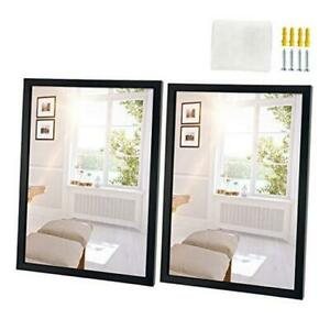 2 Pack Wall Mirrors Inch Rectangle Black Mirror for Wall Hanging 18x24 $89.15