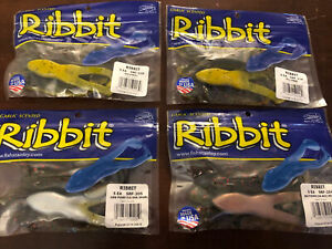 BRAND NEW Ribbit Topwater Frogs by Stanley Lot of Four