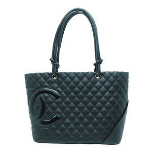 Chanel Quilted CC Cambon Tote Bag Calfskin Leather Black $1295.55