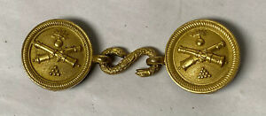 ANTIQUE MILITARY BRASS BELT BUCKLE CANNON SNAKE CLASP $95.00