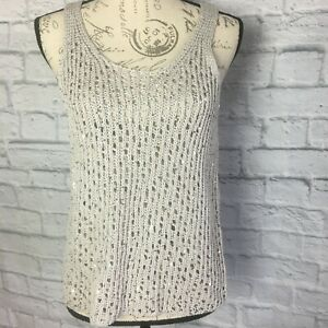 Eileen Fisher Sequined Knit Tank Size S $20.00
