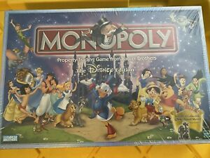MONOPOLY The Disney Edition Board Game by Parker Brothers New In Sealed Box $35.00