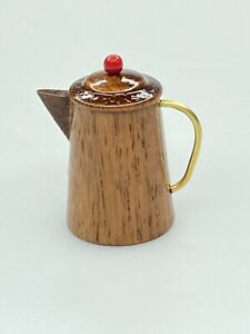 Vintage Wooden Wood Pitcher Hand Painted Thimble Sewing $8.50