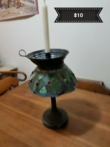 ANTIQUE CANDLE HOLDER HAND MADE $30.00