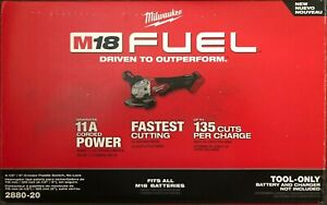 NEW Milwaukee M18 Gen2 FUEL 4 1 2 5quot; Angle Grinder 2880 20 replaces 2780 20 $138.00