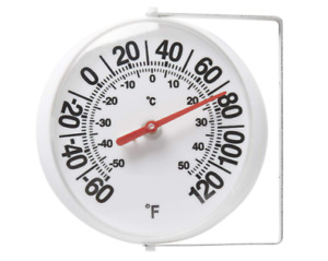 Large Outdoor Wall Analog Patio Thermometer Mounting Bracket Temperature Reader $11.59