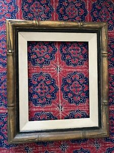 Vintage Wooden Gold Bamboo Style Ornate Picture Frame $49.99