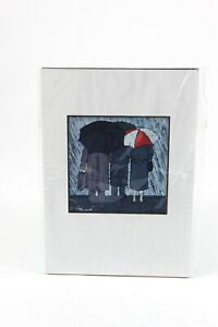 Toni Spencer Limited Edition Batik Matted Litho Print music note $25.00
