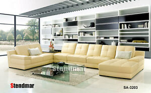5PC NEW MODERN DESIGN LEATHER SECTIONAL SOFA SA3203A