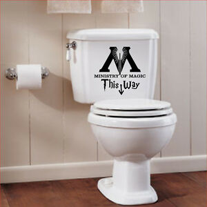 Harry Potter Ministry of Magic Bathroom Quote Vinyl Decal Sticker deathly hallow