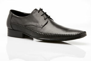 MENS NIKO AUSTRALIAN DESIGN ZASEL DRESS BLACK LEATHER LACE UPS FORMAL WORK SHOES