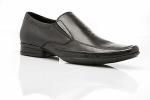 NEW MENS AUSTRALIAN DESIGN ZASEL DRESS BLACK LEATHER LOAFERS DRESS FORMAL SHOES