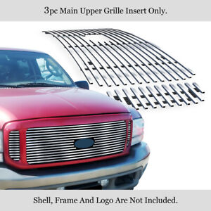 Fits 99-04 Ford F250/F350/Super Duty/Excursion Main Upper Billet Grille