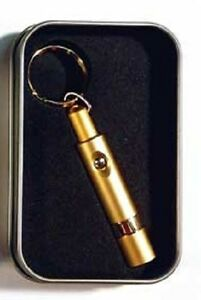 Retractable Gold Bullet Cigar Cutter Key Chain in a Gift Box