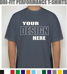 50 Custom Screen Printed Dri-Fit Moisture Wicking T-Shirts - $7.00 each