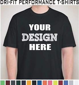 100 Custom Screen Printed Dri-Fit Moisture Wicking Dry T-Shirts - $5.00 each