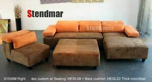 4PC MODERN DESIGN DARK GREY SECTIONAL SOFA S1506MR