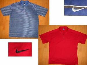 LOT of 2 NIKE GOLF DRI-FIT UV POLO SHIRT XXL & NIKE FIT DRY GOLF SHIRT 2XL