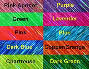 5#x27; WTP Laser Water Proof Lure Tape 5#x27; x 1 2quot; Lengths 13 colors